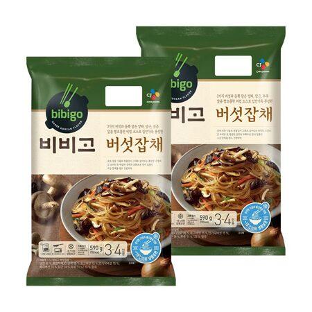 비비고 버섯잡채590gX2개