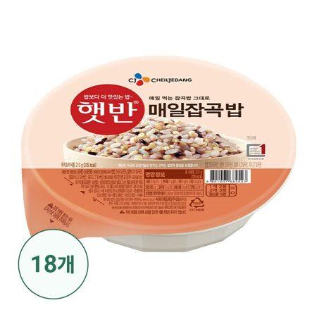 햇반 매일잡곡밥210gx18개