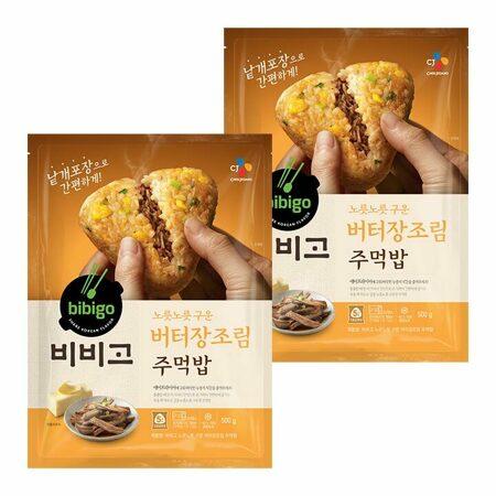 비비고 노릇노릇 구운 주먹밥 버터장조림 500gX2개