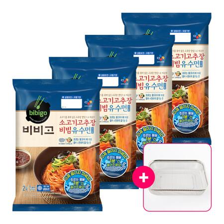 비비고 소고기고추장 비빔유수면 630gx4개+[사은품]채반