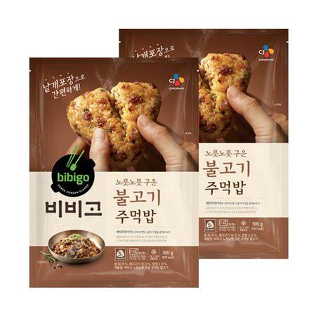 비비고 노릇노릇 구운 주먹밥 불고기 500gX2개