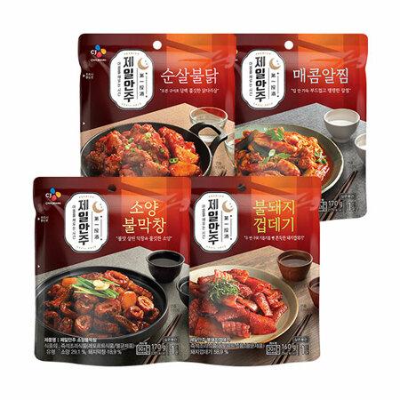 제일안주 소양불막창 170g+불돼지껍데기 160g+순살불닭190g+매콤알찜 170g_제일안주EVENT