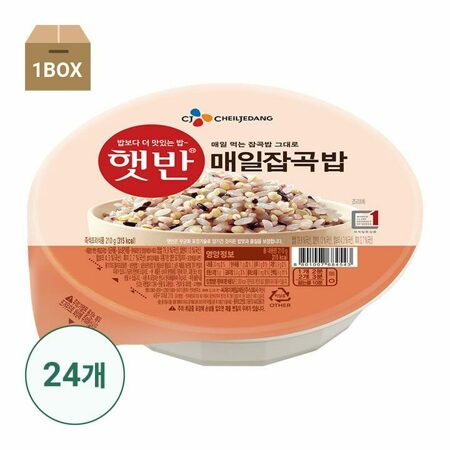 [직배송] 햇반 매일잡곡밥210gX24개