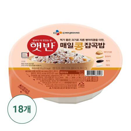 햇반 매일콩잡곡밥 210gx18개