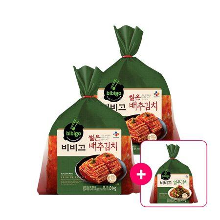 비비고 썰은배추김치1.8kgx2개+[사은품]열무김치 900g