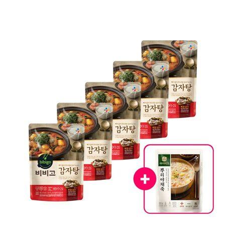 비비고 감자탕 460gX5개+[사은품]더비비고 뿌리야채죽