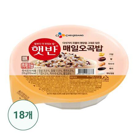 햇반 매일오곡밥 210gx18개