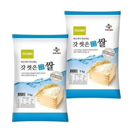 [19년 햅쌀]갓 씻은 자연담은 쌀 10kg(5kg 2포)_마켓핫딜