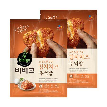 비비고 노릇노릇 구운 주먹밥 김치치즈볶음밥 500gX2개