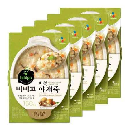 비비고 버섯야채죽 280gX5개